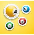 Bingo balls on circular white frames vector image vector image