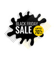 black friday color splash sale template vector image