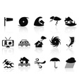 black storm icons set vector image vector image