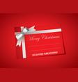 blank christmas tag vector image vector image