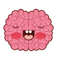 brain character with concentrated expression in vector image