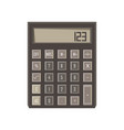 calculator icon isolated button design sign vector image vector image