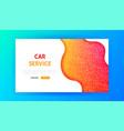 car service landing page vector image