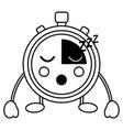 chronometer kawaii icon image vector image