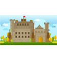 classic old castle flat vector image vector image