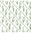 colored seamless pattern with snowdrops vector image vector image