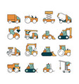 construction transport heavy machinery truck vector image vector image