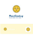 creative fan logo design flat color logo place vector image vector image