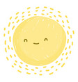 cute sun summer hot weather white background vector image vector image