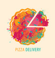 decorative banner on theme pizza delivery vector image