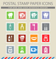 dental office icon set vector image