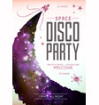 disco pasty poster on open space background vector image vector image