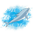 dolphin and water splash vector image vector image