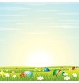 Easter background eggs in green grass vector | Price: 1 Credit (USD $1)