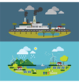 Ecology of city technology and environment concept vector image