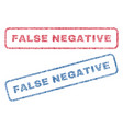 false negative textile stamps vector image vector image