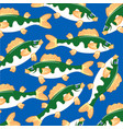 fish pattern perch vector image vector image