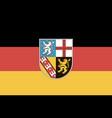 flag saarland vector image vector image