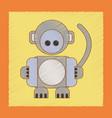 flat shading style icon kids monkey vector image