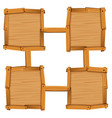 four wooden square as board templates vector image vector image