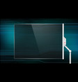 futuristic glass screen vector image vector image
