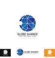 globe share logo template vector image vector image