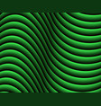 green dark abstract wave background vector image vector image