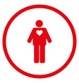 groom rounded icon vector image