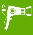 hairdryer icon green vector image vector image
