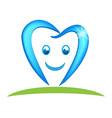 happy dental tooth logo vector image vector image