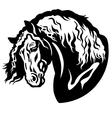 heavy horse head vector image vector image