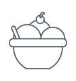 ice cream bowl vector image vector image