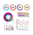 infographic business finance data information vector image