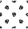 leather baseball glove pattern seamless black vector image vector image
