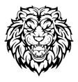 lion head tribal tattoo vector image vector image