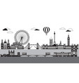london city skyline 8 vector image vector image