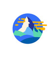 modern mountain emblem vector image