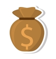 money bag isolated icon vector image vector image