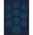 Monogram Logos Set Graphic Design vector image vector image