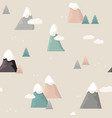 mountain seamless pattern flat style cartoon vector image