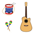 Musical instruments vector image