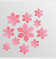 paper flower origami4 vector image vector image