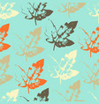 pattern with leaves on cool background vector image vector image