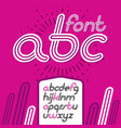 retro lowercase english alphabet letters abc vector image vector image