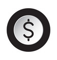 round icon black white - dollar currency symbol vector image