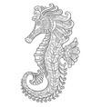 seahorse coloring page vector image vector image