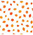 seamless pattern with autumn orange leaves vector image vector image