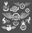 set of bicycle badges vector image vector image