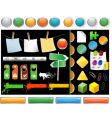 set of website buttons vector image vector image