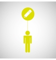 silhouette man icon whiting social media vector image
